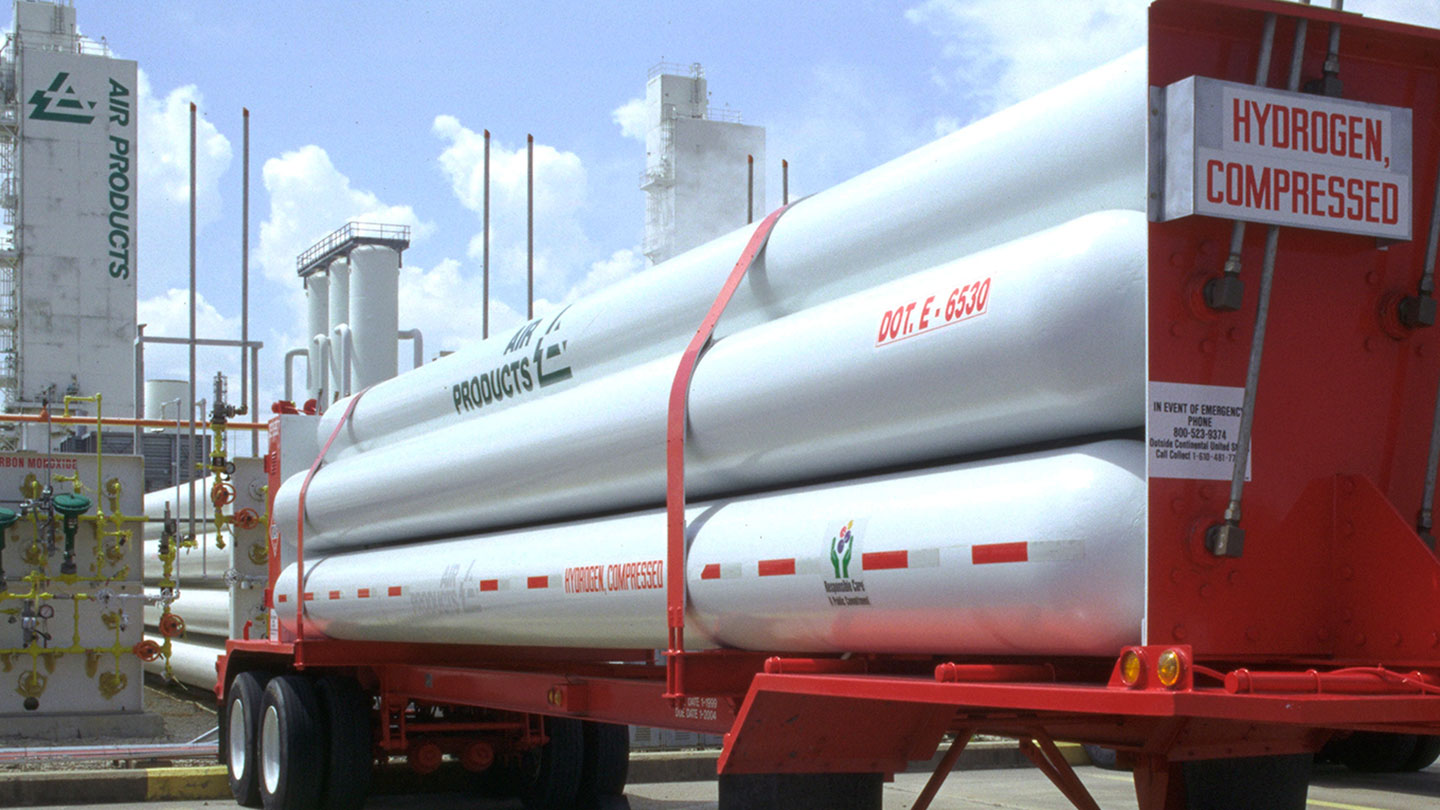 Hydrogen tube trailer at LaPorte, TX plant